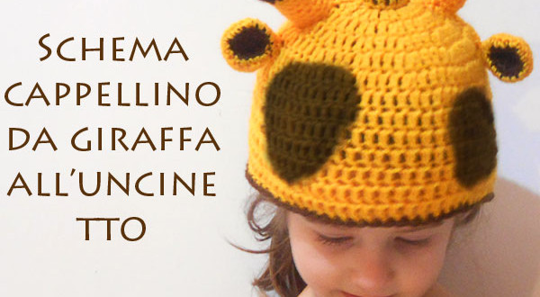 Schema cappello da giraffa all'uncinetto