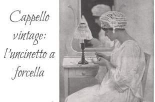 uncinetto a forcella cappello vintage