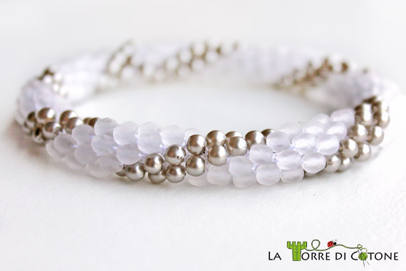 Bracciale all'uncinetto con perline - Videospirale a crochet