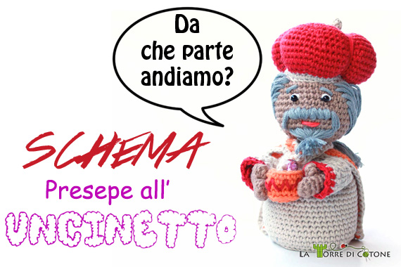 SAL Presepe all'Uncinetto #4: schema Re Magio Baldassarre