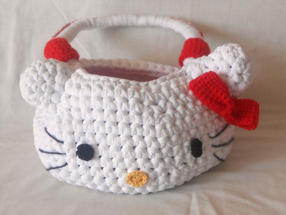 la fettuccia: borsa di hello kitty in fettuccia di lycra