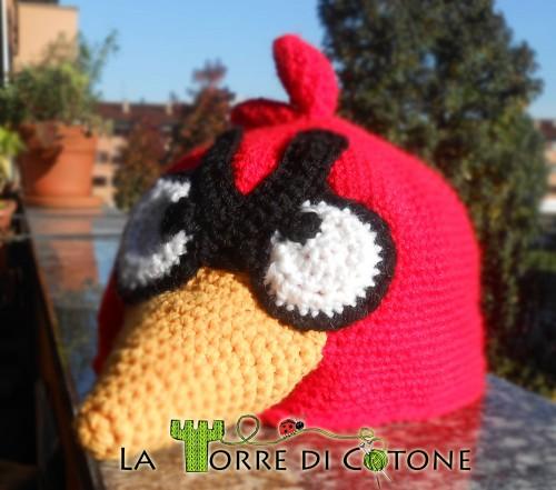 Cappello Angry Birds all'uncinetto. Schema gratis per cappello Angry Birds all'uncinetto