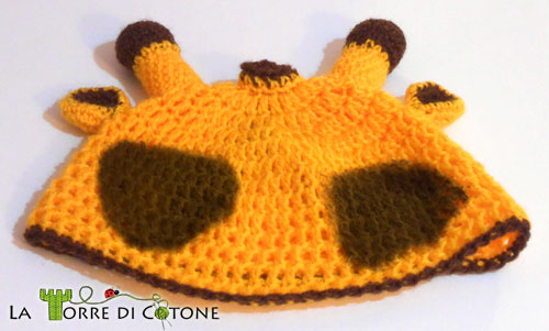 Schema cappellino da giraffa all'uncinetto