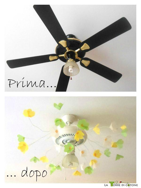 trasformare-un-ventilatore-in-un-lampadario-fiorito