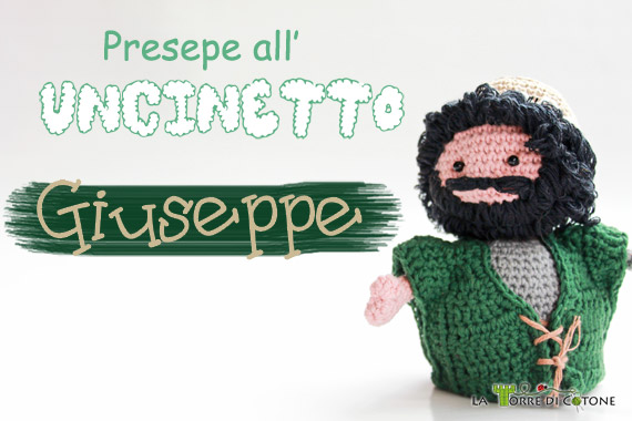 personaggio presepe amigurumi: Giuseppe