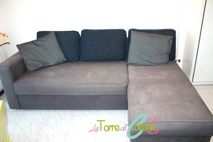 Come foderare un divano asimmetrico #1: la seduta