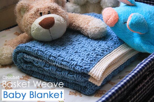 Schemi gratis di copertine per neonato all'uncinetto - 3 azzurra